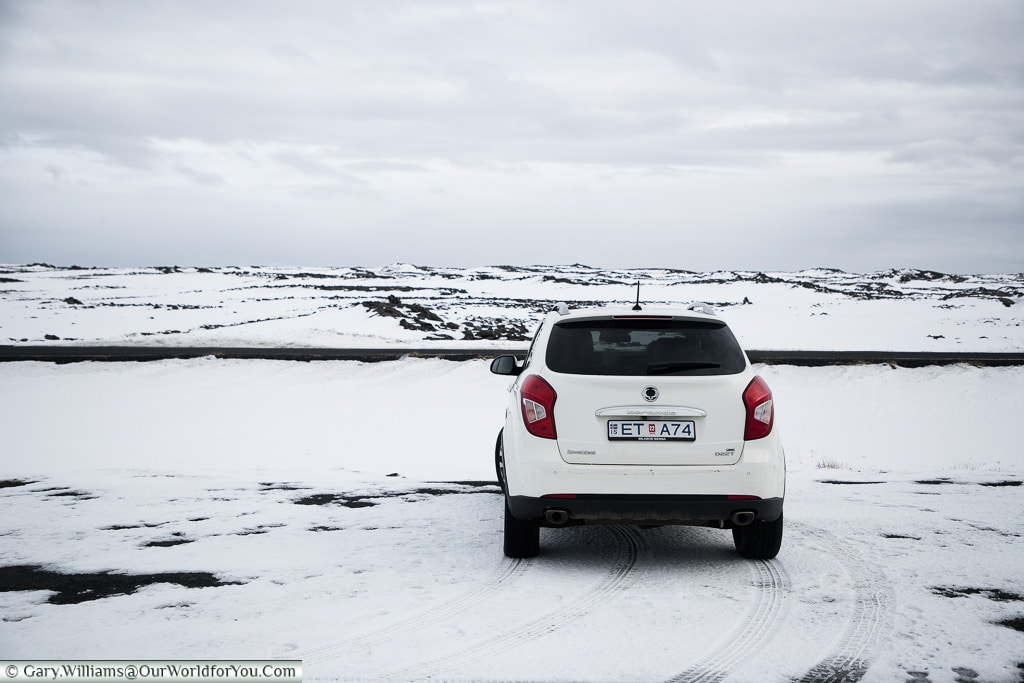 Etta - Our chariot for our Icelandic road trip