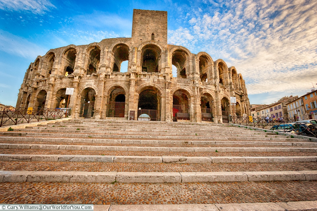 The Roman Amphitheatre in Arles, Provence, France