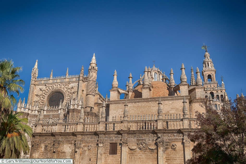 A view of the Cathedral, Seville Cathedral, Seville, Spain