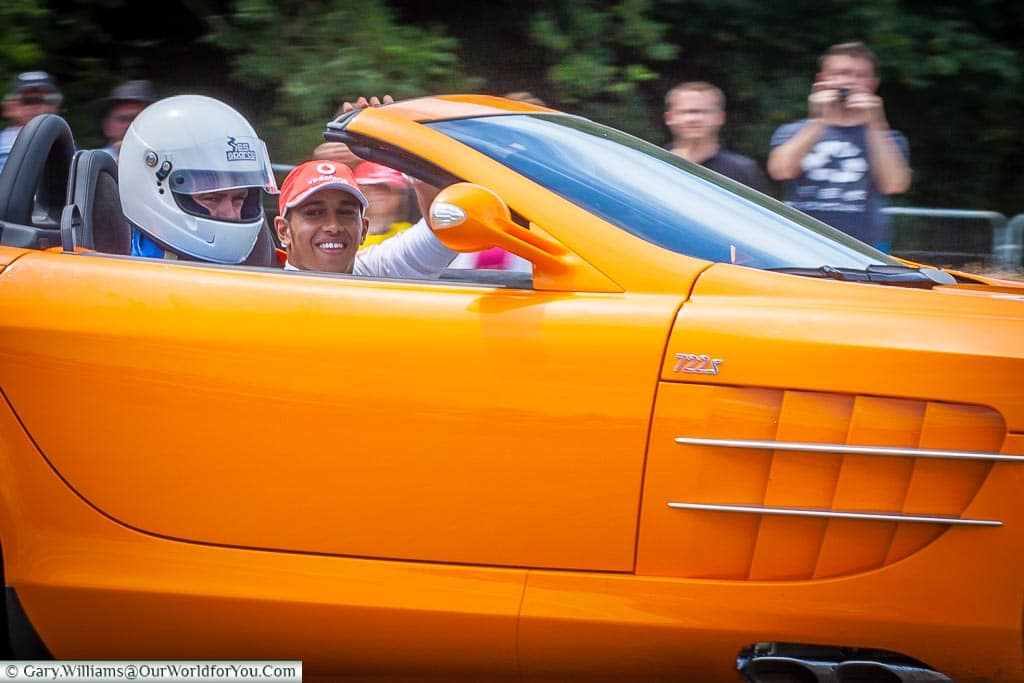 Lewis Hamilton at Goodwood Festival of Speed, UK