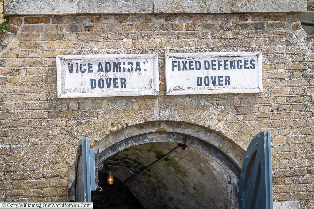 Entrance to the WWII tunnels, Dover Castle, Dover, Kent, England