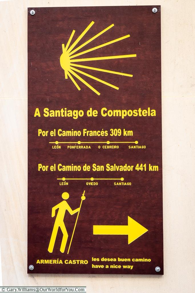 Follow the way, León, Spain