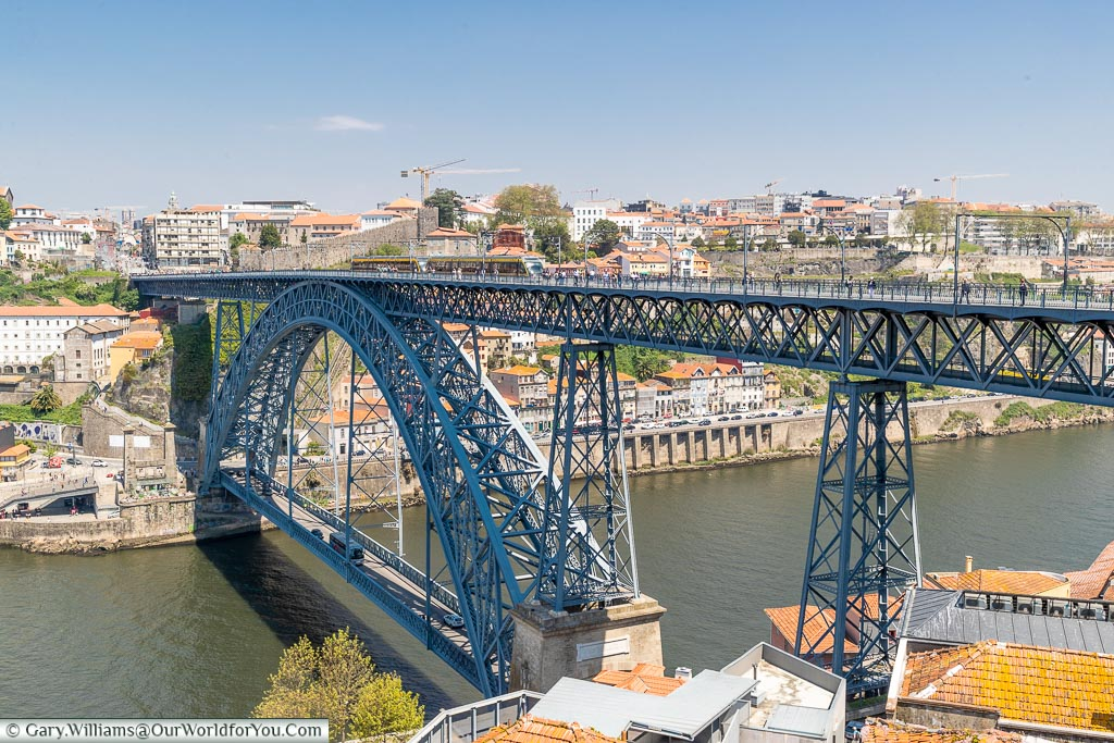 The Dom Luís I Bridge, from a different angle, Porto, Portugal