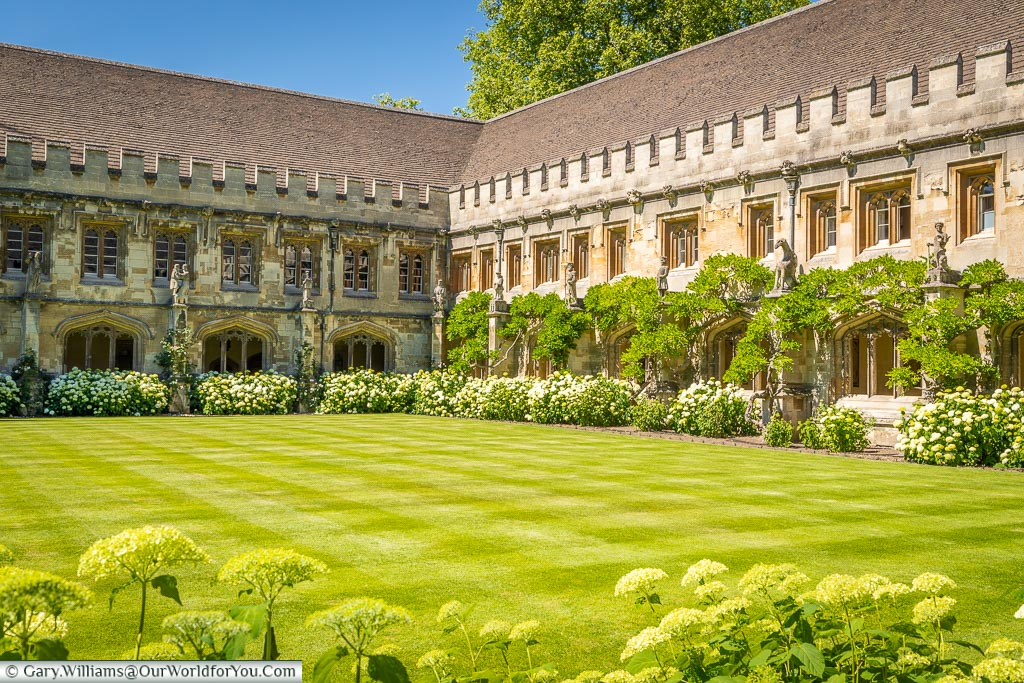 The Magdalen's cloister, Oxford, England, UK