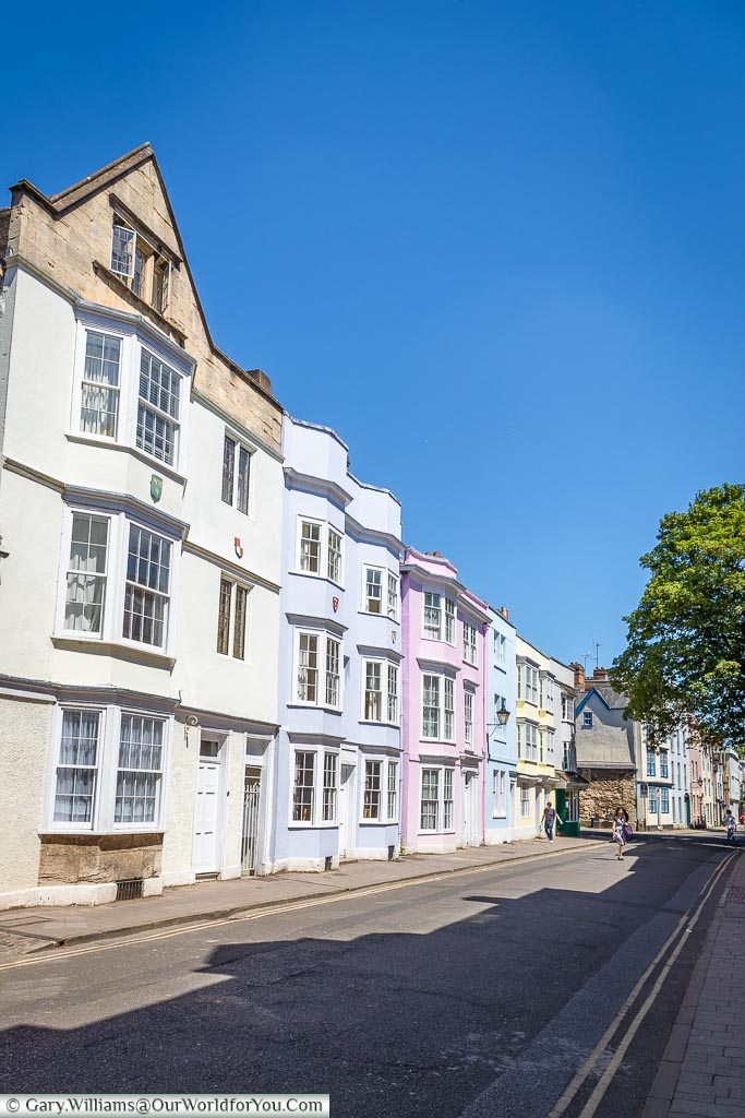 The Pastel houses, Oxford, England, UK