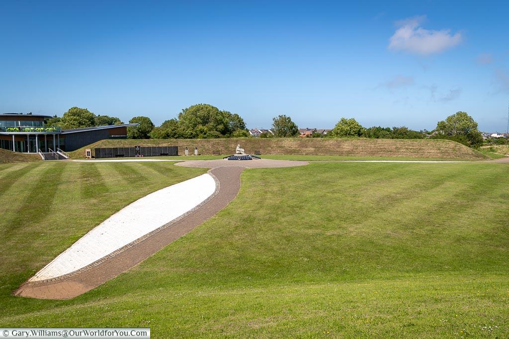 The Propeller, Battle of Britain Memorial, Capel-le-Ferne, Kent, England, UK