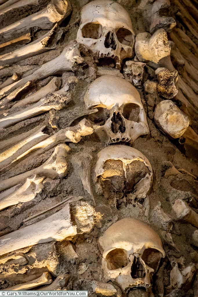 The bones up close, Évora, Portugal