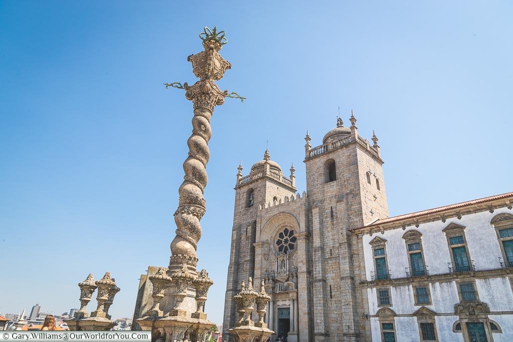 The courtyard of the Cathedral, Porto, Portugal
