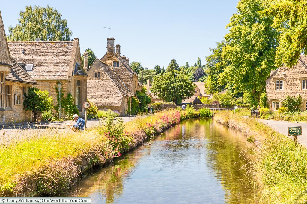The river Eye, Lower Slaughter, Gloucestershire, England, UK
