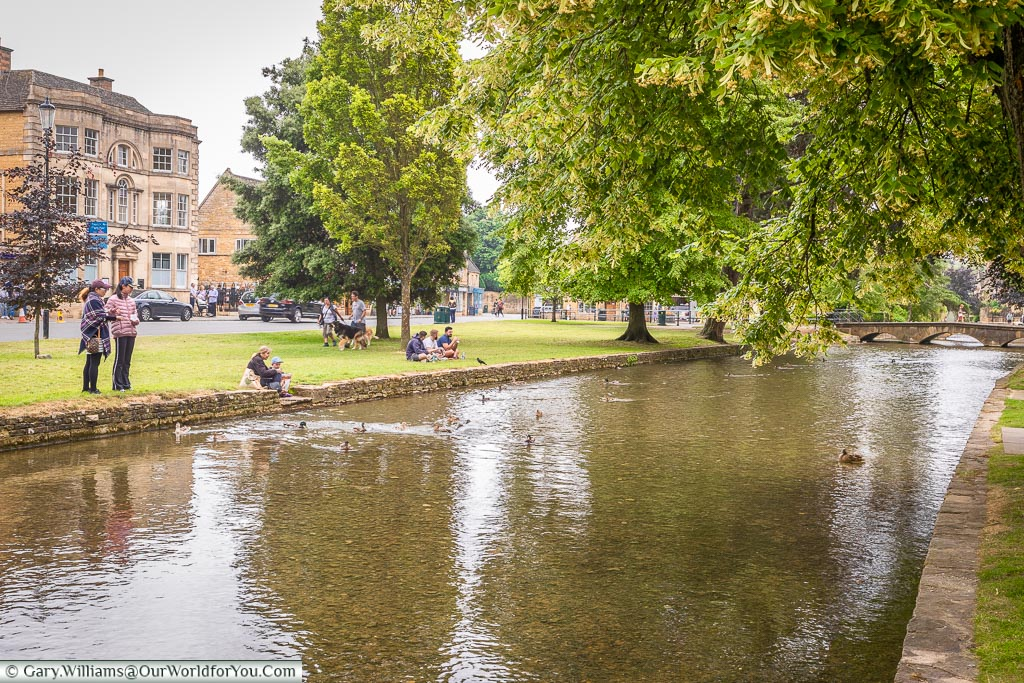 The river Windrush, Bourton-on-the-Water, Gloucestershire, England, UK