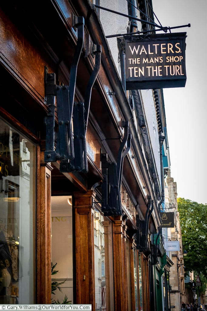 Walters, The Man's Shop, Ten the Turl, Oxford, England, UK