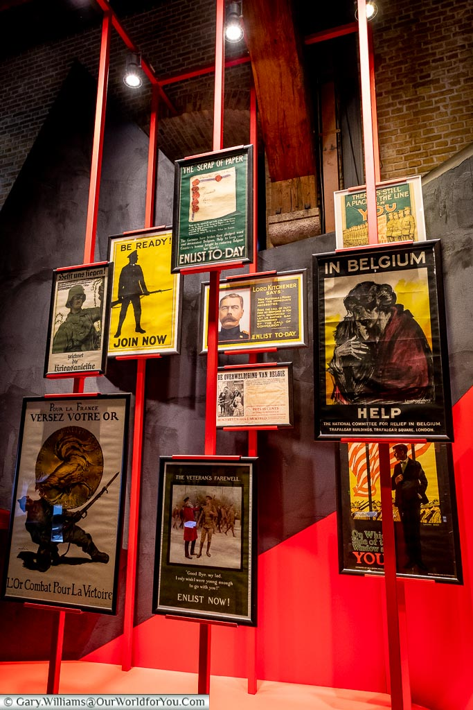 The Enlisting posters, Ypres, leper, Belgium