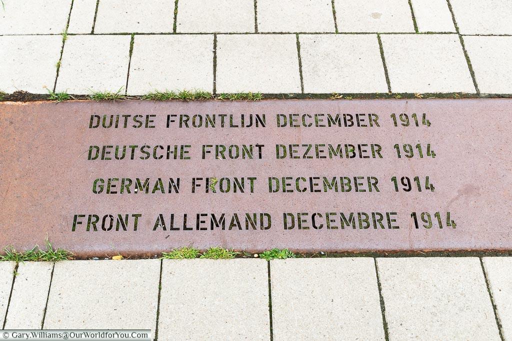 The German frontline, Belgium