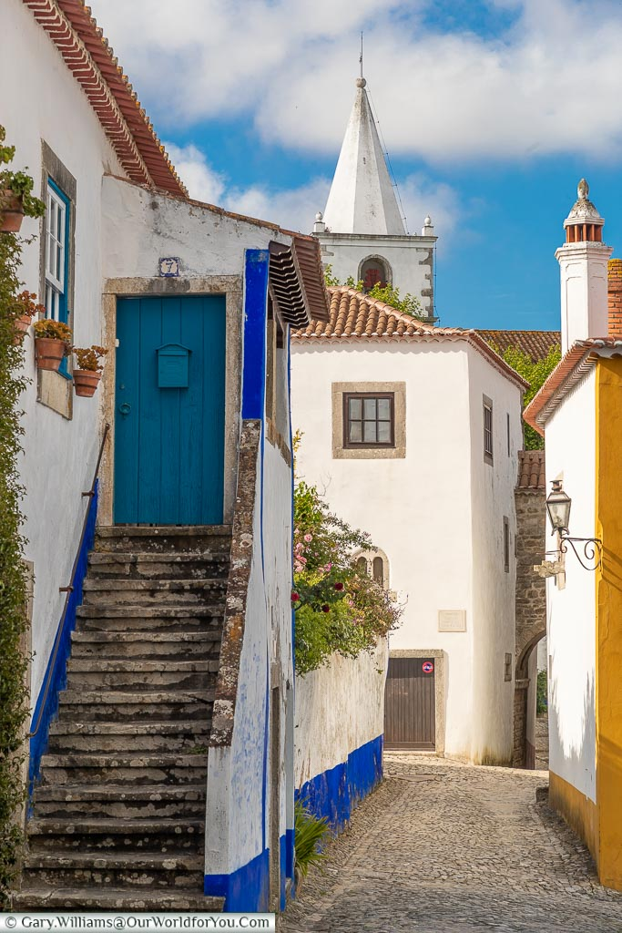 The back lanes of Óbidos, Portugal