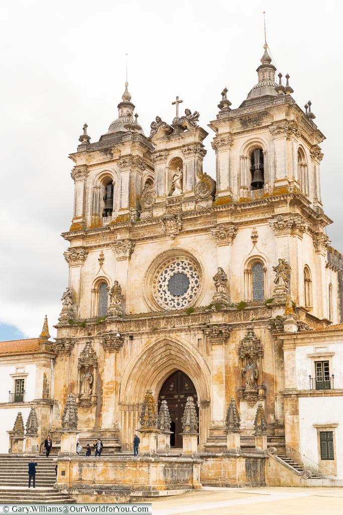 The entrance to the Monastery of Alcobaça, Portugal