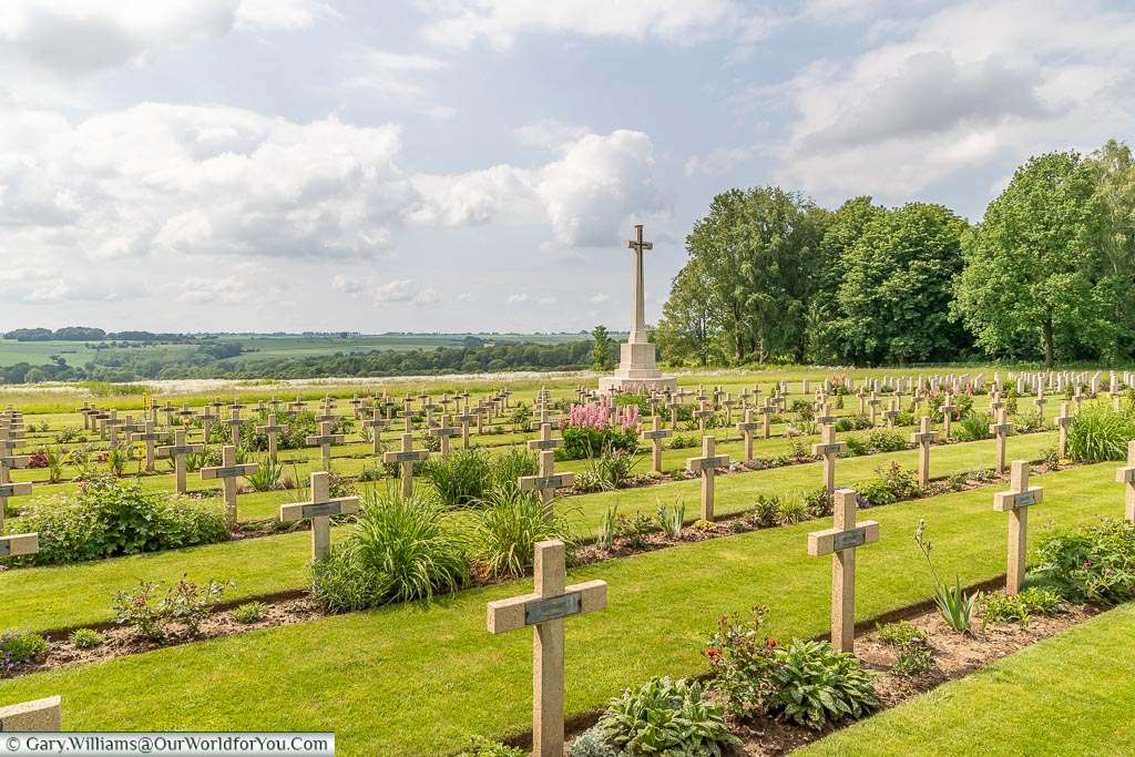 The Anglo-French Cemetery, Thiepval, France