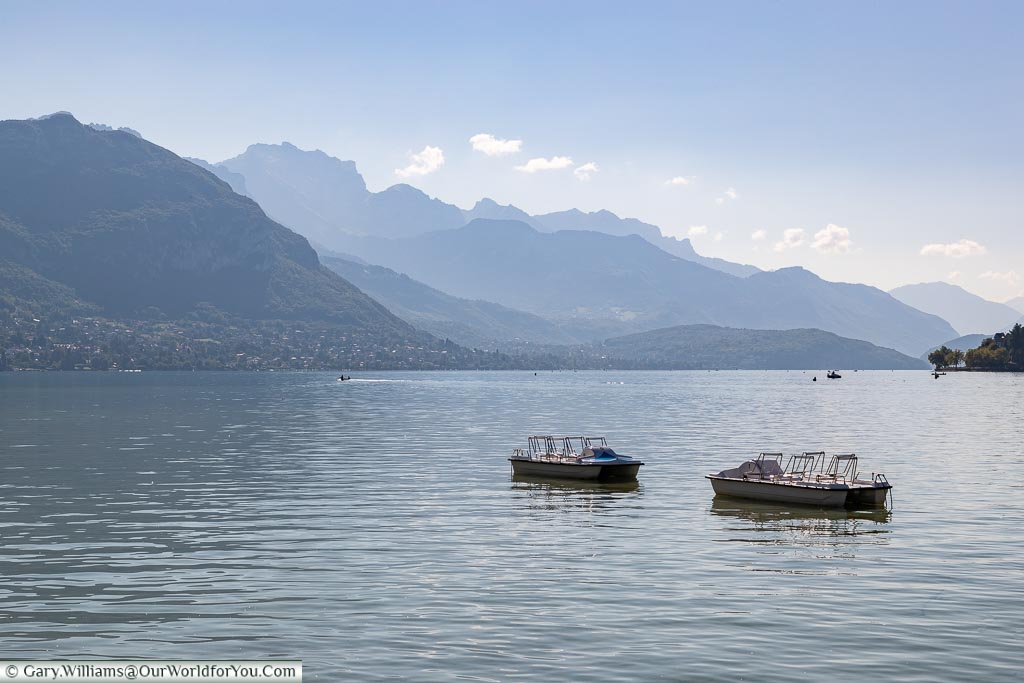 Where Annecy meets the edge of the Alps, France