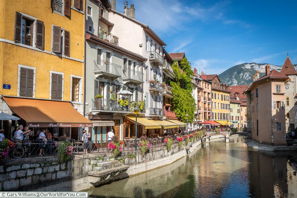 Looking along the canal, Annecy, France