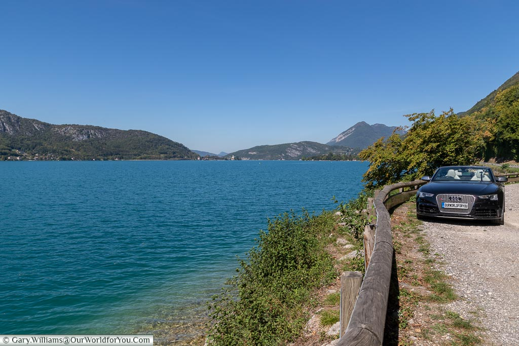 Parked by Lake Annecy, Annecy, France