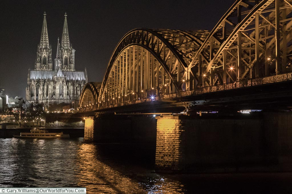 The Dom and Hohenzollernbrücke, Cologne, Germany