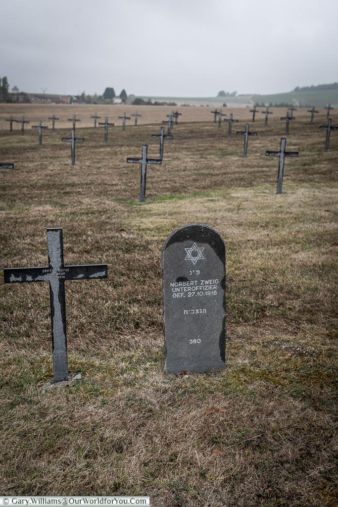 The German Iron cross,  Marfaux Cemetery, France