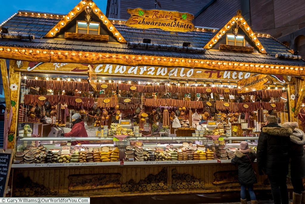 A selection of meats, Frankfurt, Germany