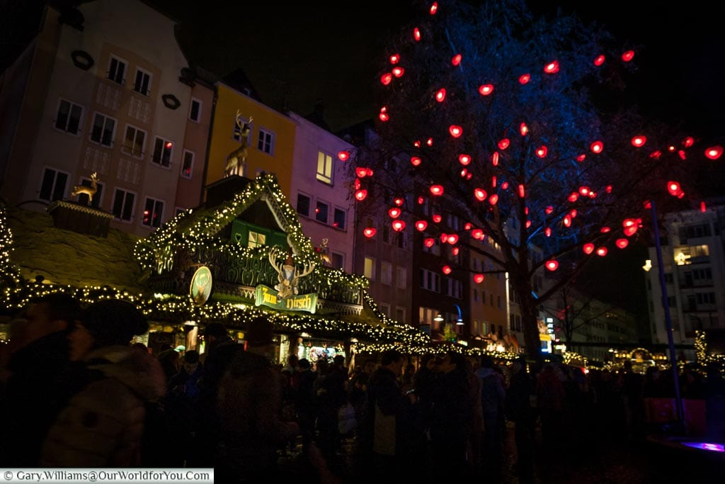 Beautiful at night, Christmas Markets, Cologne, Germany