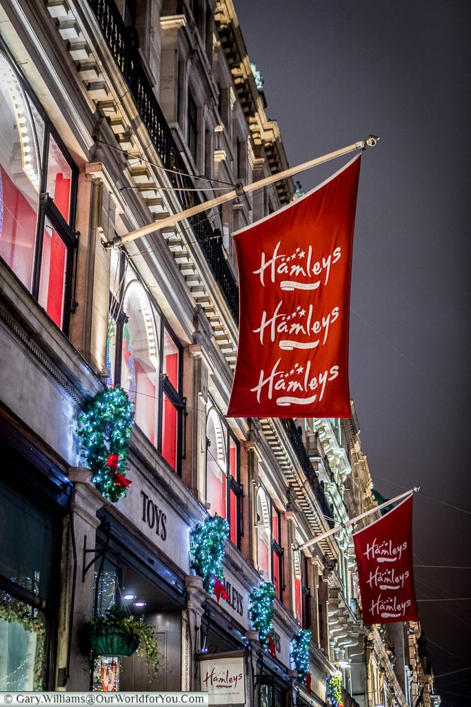 Hamleys on Regent Street, Christmas, London, England, UK