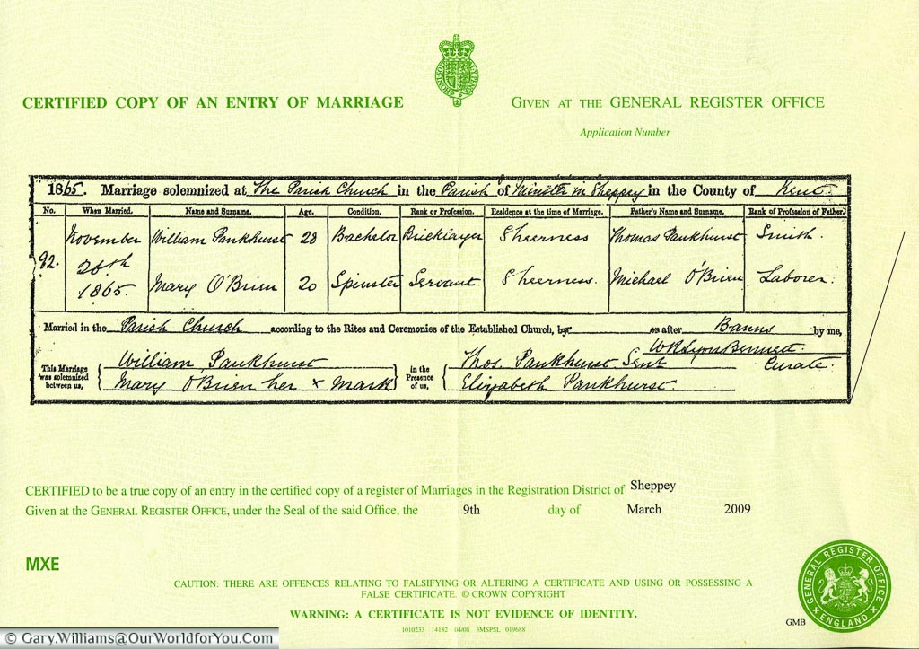A Marriage Certificate