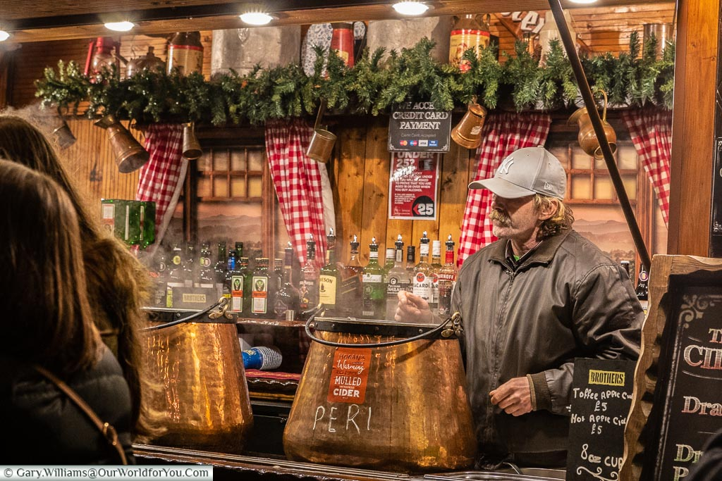 Mulled cider, London at Christmas, UK