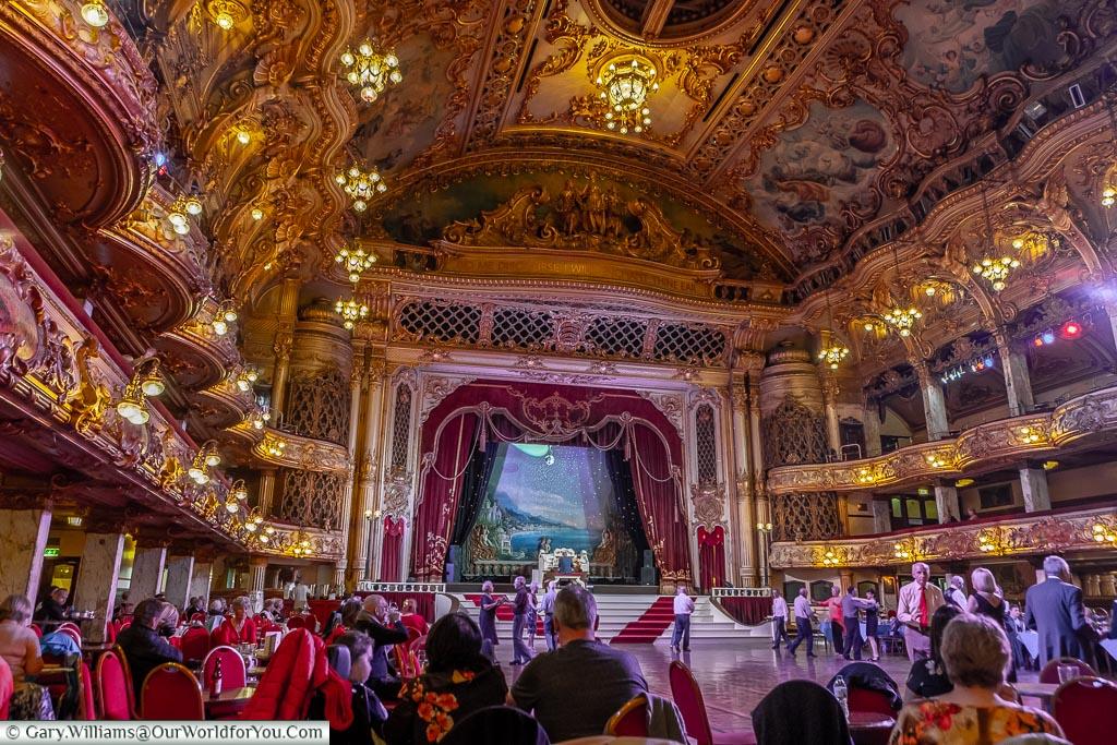 Sit back an enjoy, Tower Ballroom, Blackpool, Lancashire, England, UK