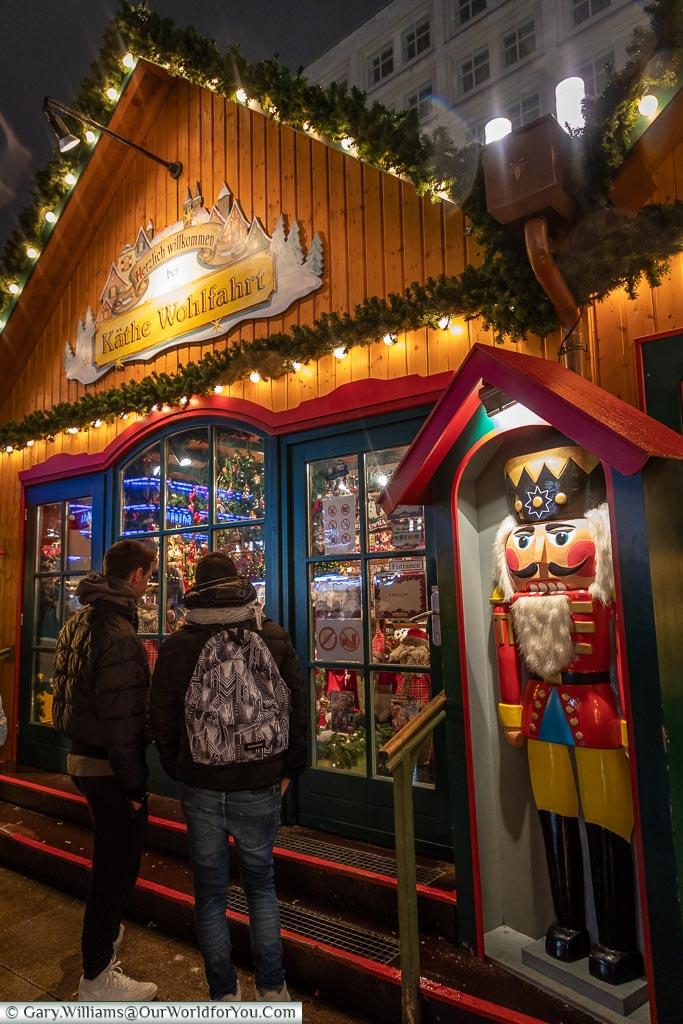 Käthe Wohlfahrt on Alexanderplatz, Berlin German Christmas Markets