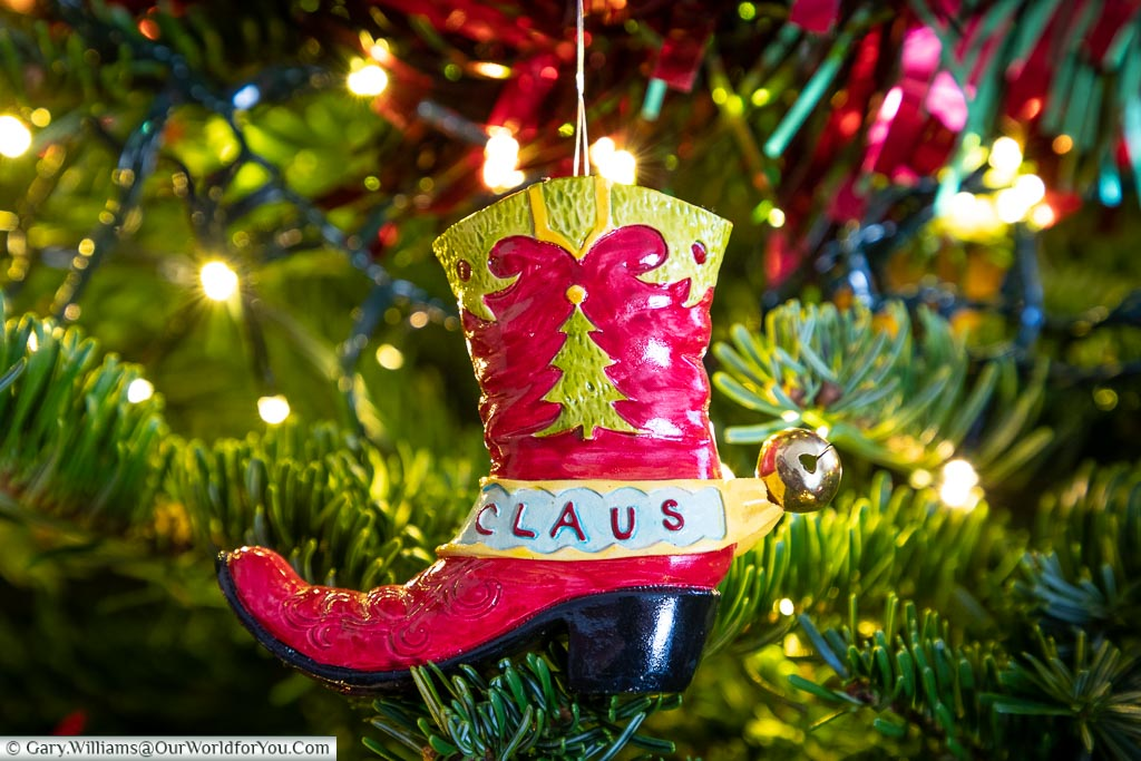 The Texan boot decoration