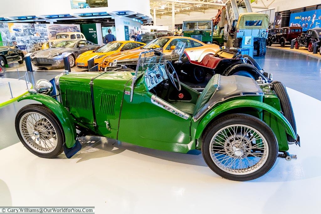 A broad range in the British Motor Museum, Warwickshire, England, UK