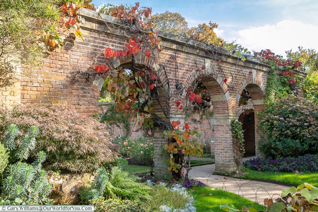 Archway to the Rose Garden, Hever Castle, Kent, England