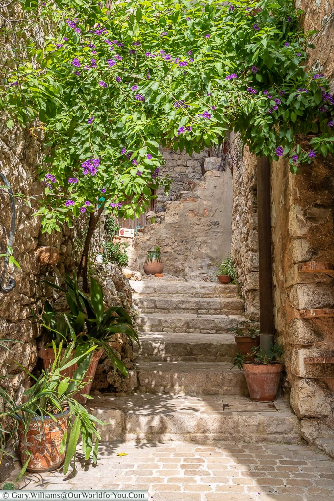 Beautiful courtyard, Tourrettes-sur-Loup, France