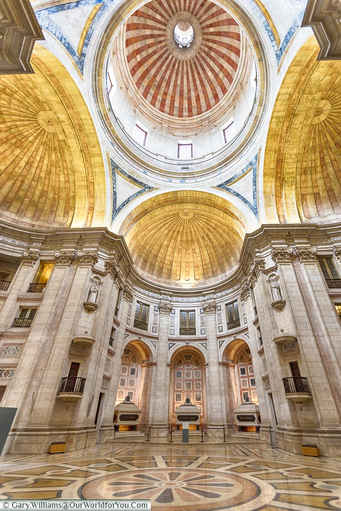 Inside the National Pantheon, Lisbon, Portugal