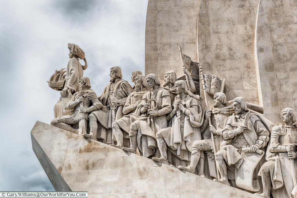 Close-up of the Padrão dos Descobrimentos, Lisbon, Portugal
