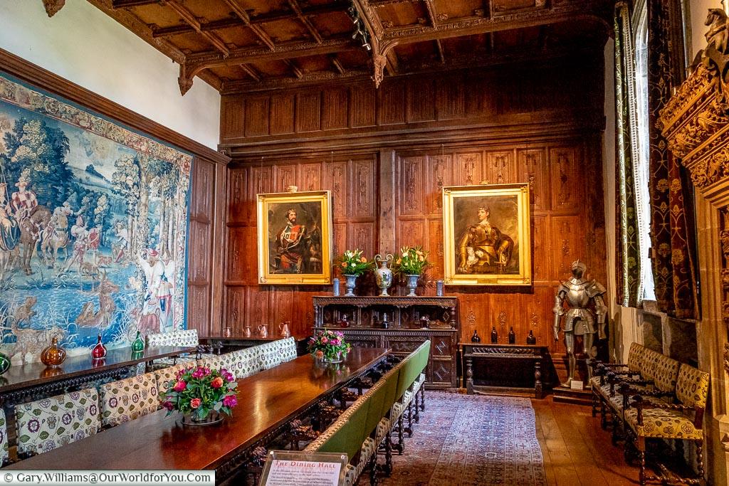 The Dinning Hall, Hever Castle, Kent, EnglandThe Dinning Hall, Hever Castle, Kent, England
