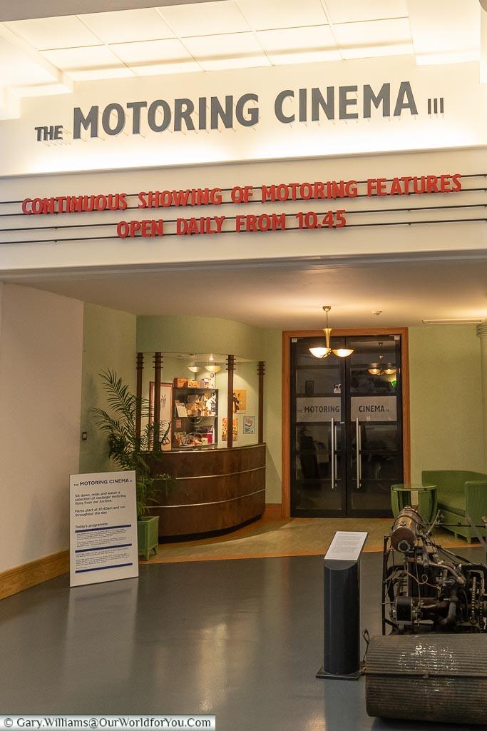 The Motoring Cinema, British Motor Museum, Warwickshire, England, UK