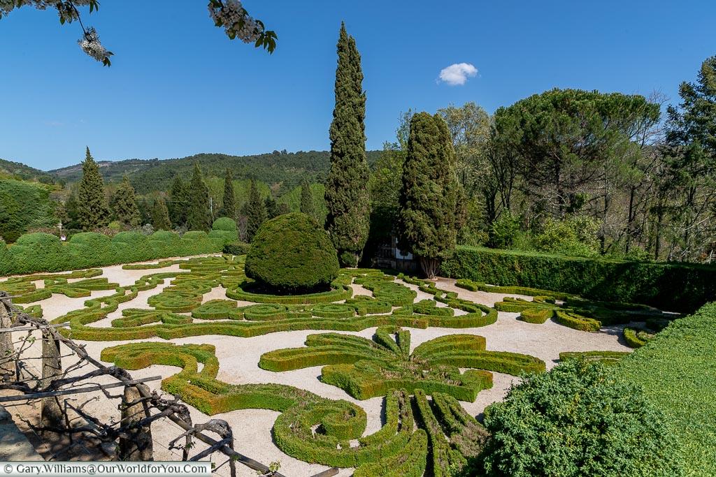 The gardens of Casa de Mateus, Portugal
