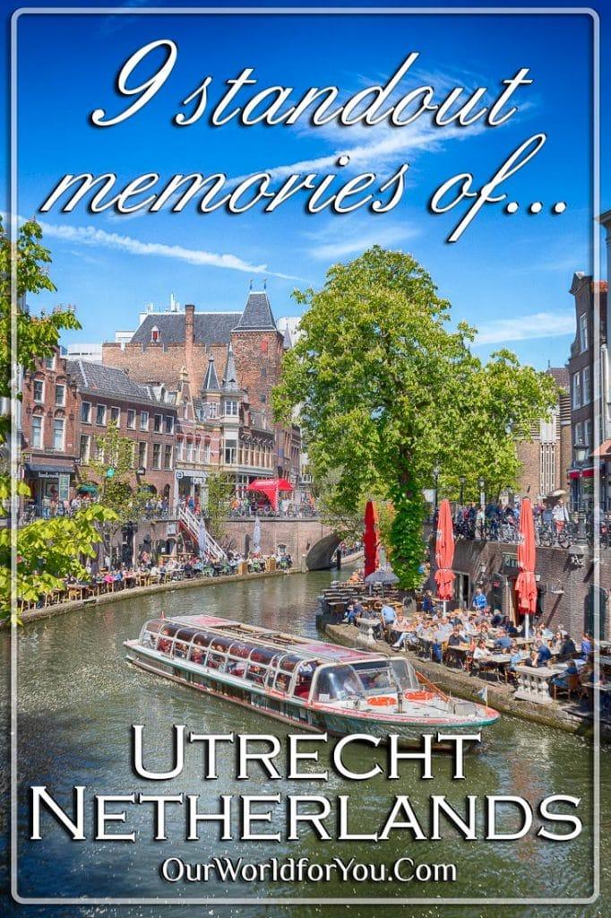 A tour boat on the canal, Utrecht, Holland, Netherlands - Pinter