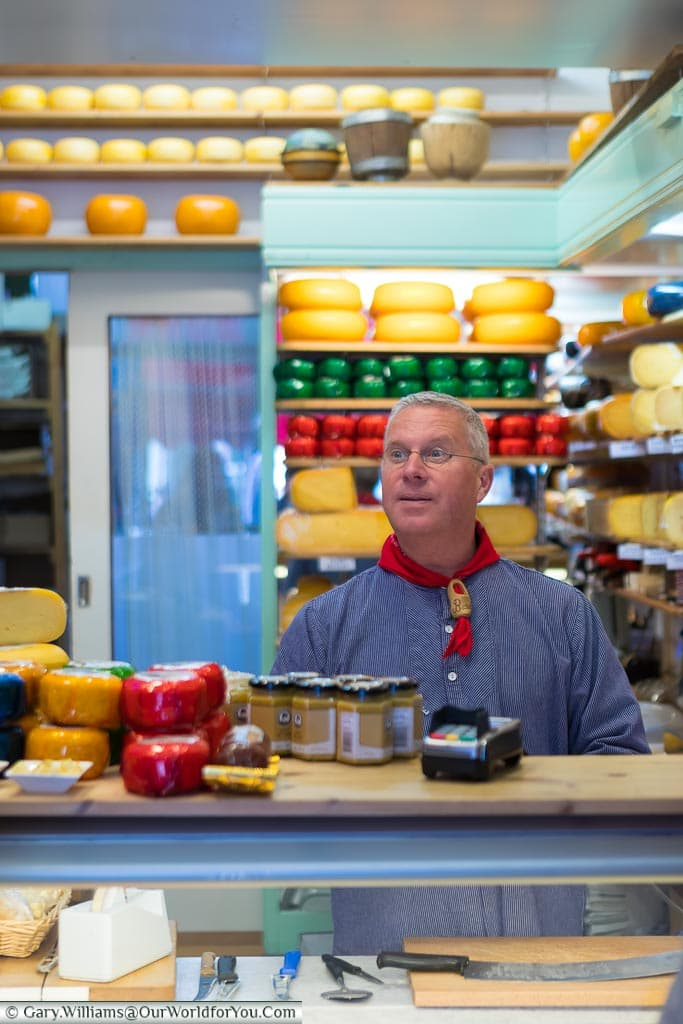 A Cheese shop in Edam, Holland, Netherlands