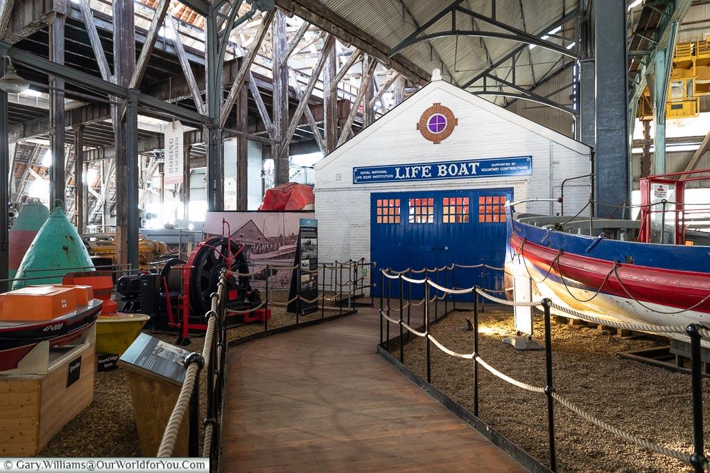 A Lifeboat House, Historic Chatham Dockyard, Kent, England, UK