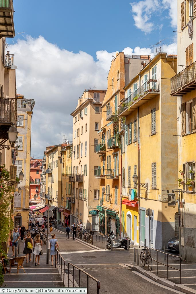 Down Rue Rossetti, Nice, France