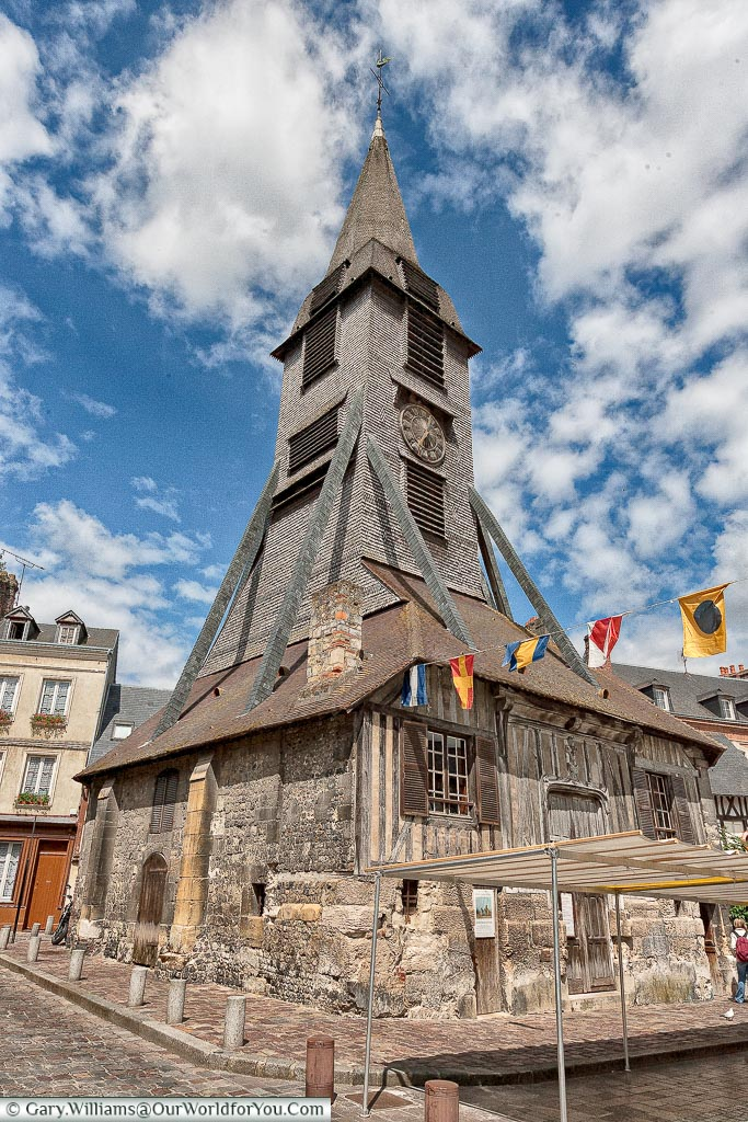 Saint-Catherine's church tower, Honfleur, Normandy, France