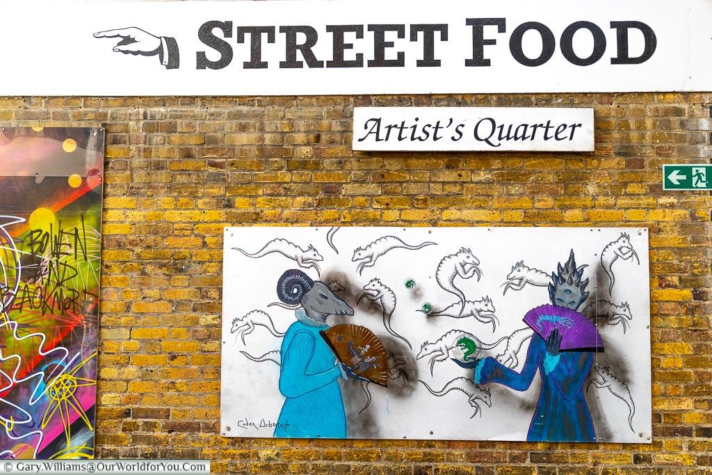 Street Food Art, Greenwich Market, Greenwich, London, England, UK