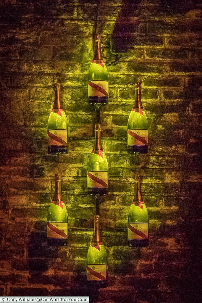 The Champagne light at G H Mumm, Reims, Champagne Region, France