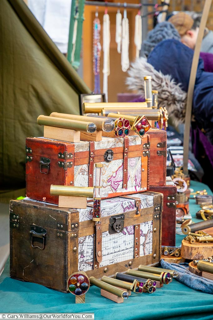 The hidden chest, Greenwich Market, London, England, UK