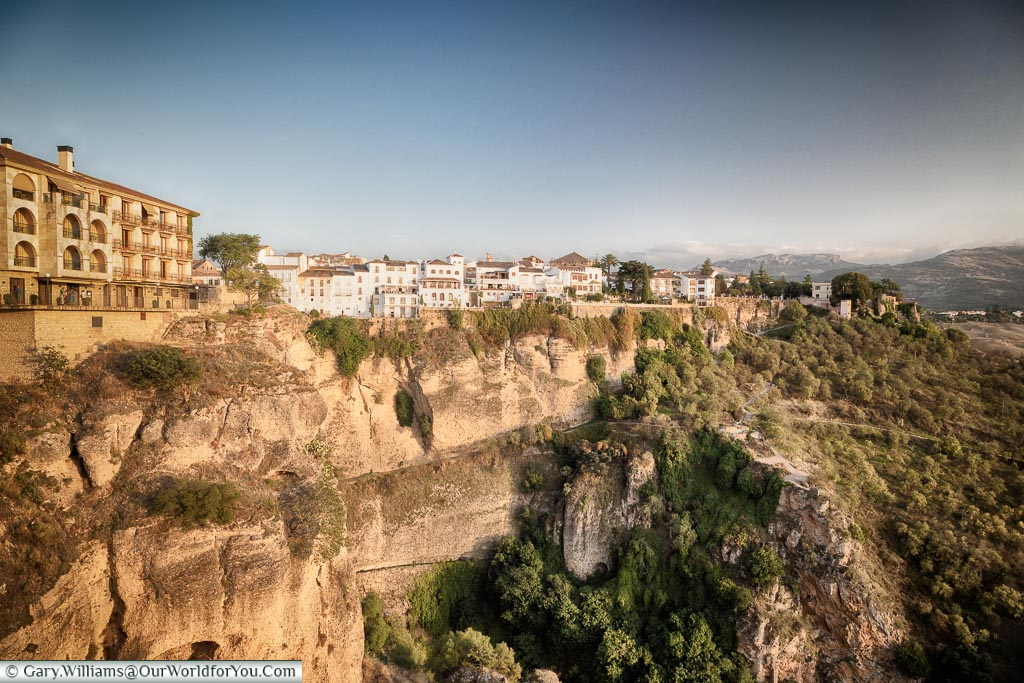The view from the Mirador de Ronda, Ronda, Spain